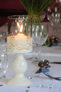 Cream Decorative Windlight Candle Holder