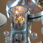 Silver Speckled Glass Votive