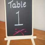 Table blackboards